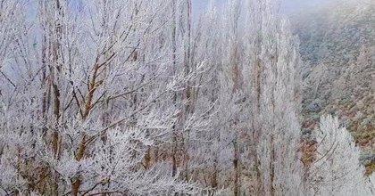 Agurain (Álava) registra la temperatura mínima de Euskadi con 4 grados bajo cero