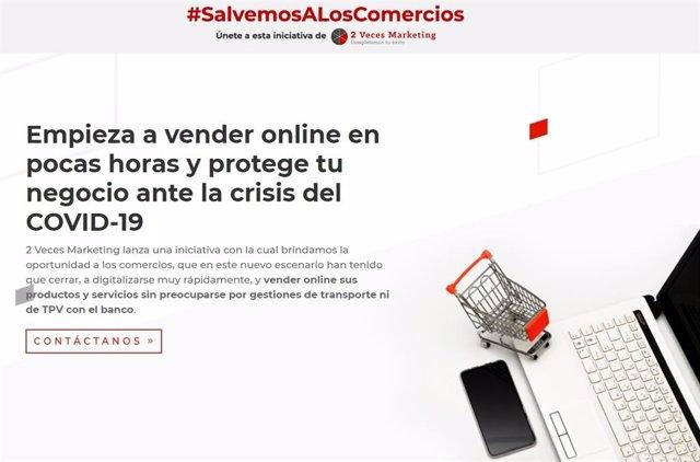 La web puesta en marcha para adherirse a la campaña #SalvemosalosComercios
