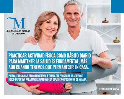 La Diputación de Málaga facilita una guía para que personas mayores hagan ejercicio en casa
