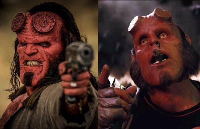 Las dos versiones cinematográficas de Hellboy
