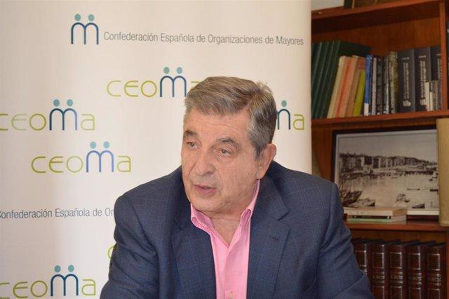 El presidente de la Confederación Española de Organizaciones de Mayores (CEOMA), Juan Manuel Martínez.