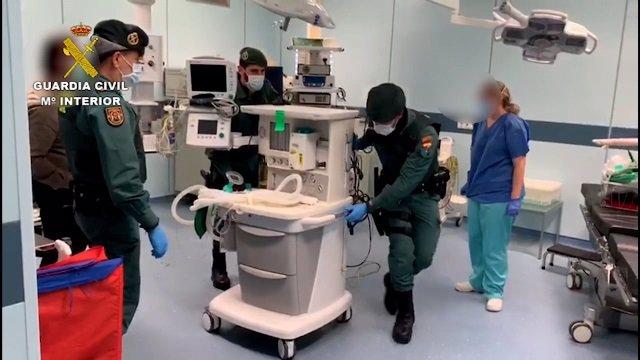 Coronavirus.- La Guardia Civil garantiza que el material sanitario y los suminis