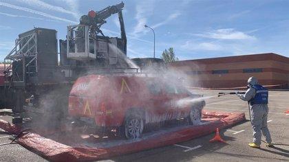 La UME se despliega en 13 municipios de la provincia de Toledo para desinfectar residencias
