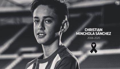 Fallece el canterano del Atlético Christian Minchola a los 14 años