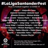 Foto: LaLiga Santander Fest junta a músicos y futbolistas en un macrofestival
