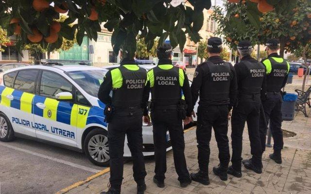 Policía Local de Utrera (Sevilla) en una imagen de archivo