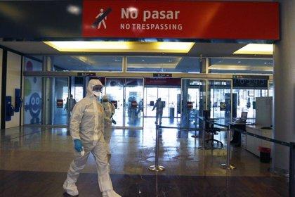 La UME actúa este domingo en Málaga capital en la desinfección de Mercamálaga, estación de tren y residencias