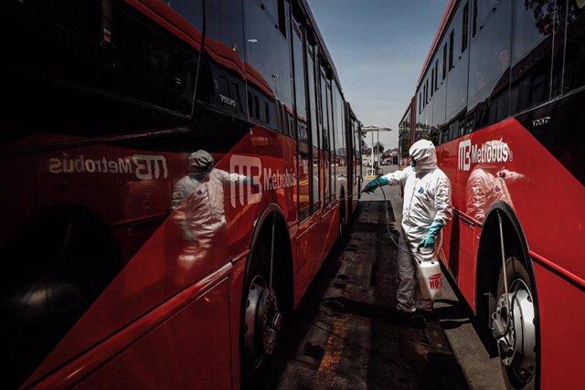 Desinfección frente al coronavirus en Ciudad de México