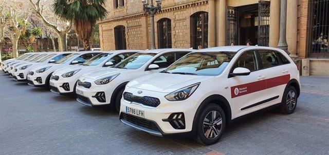 Vehículos híbridos de la flota de la Diputación de Barcelona para su red de parques naturales