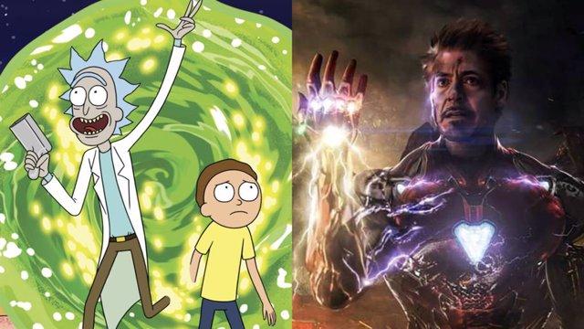 Rick y Morty junto a Iron Man en Vengadores: Endgame