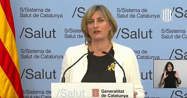 La consellera de Salud de la Generalitat, Alba Vergés, en rueda de prensa telemática sobre el coronavirus