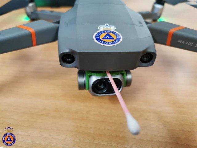 Dron que puede medir la temperatura corporal