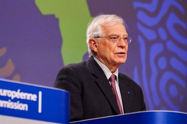 Josep Borrell, en Bruselas