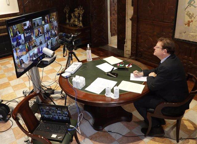 Puig en la videoconferencia de presidentes