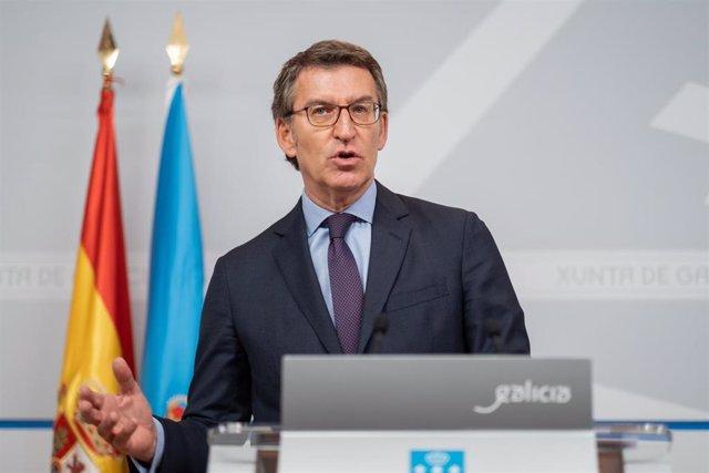 El titular del Gobierno gallego en la rueda de prensa Consello da Xunta