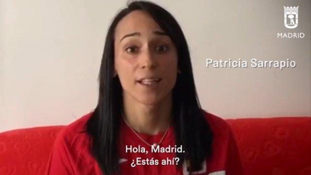 La atleta Patricia Sarrapio, en un vídeo del Ayuntamiento de Madrid.