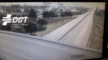 La DGT constata una bajada de circulación del 86% en los accesos a Sevilla
