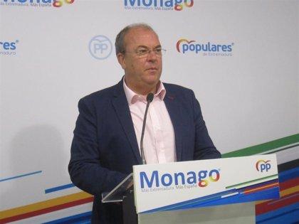 """Monago exige que no pase """"ni un día más"""" sin que se realicen los test de coronavirus a los sanitarios extremeños"""