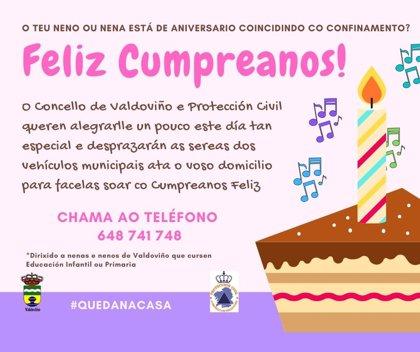 """Valdoviño (A Coruña) dará """"sorpresas"""" a niños que cumplen años durante el confinamiento"""