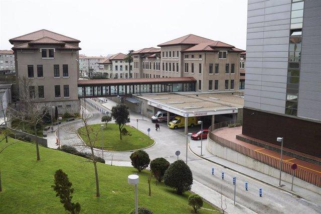 Vista general del Hospital Universitario Marqués de Valdecilla,