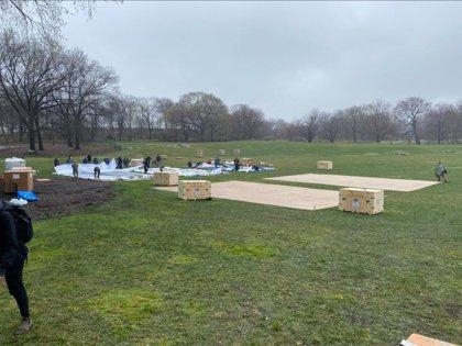 Levantan un hospital de campaña en el Central Park de Nueva York