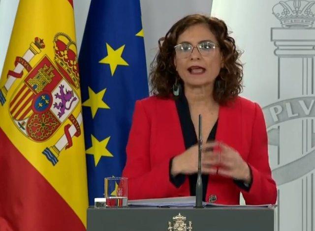 María Jesús Montero, ministra de Hacienda y portavoz.