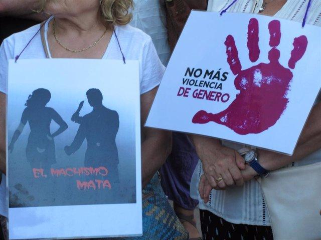 Concentración contra la violencia de género en Bilbao