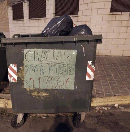 El Consorcio RSU de Ciudad Real agradece las muestras de cariño que están apareciendo en los contenedores