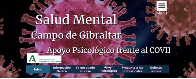 Imagen de la web elaborada por los profesionales de Salud Mental de Área de Gestión Sanitaria del Campo de Gibraltar