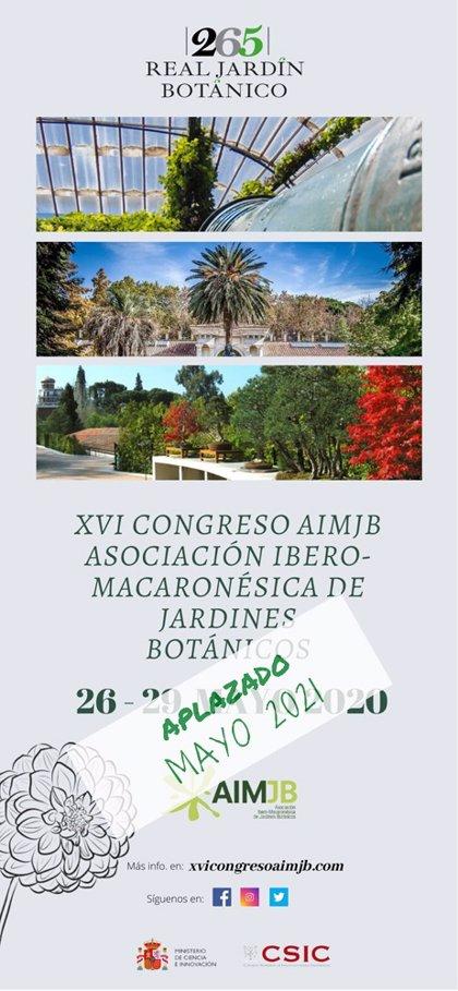 Coronavirus.- Aplazado el XVI Congreso de la Asociación Ibero Macaronésica de Jardines Botánicos a 2021