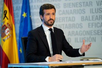 """Casado acusa a Iglesias de """"alardear"""" de posibles expropiaciones: """"No estamos para asaltar los cielos"""""""