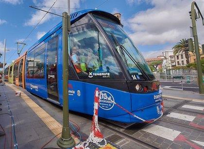 La ocupación en el tranvía y las guaguas de Tenerife cae un 90% durante el estado de alarma