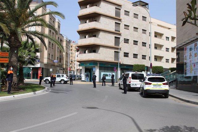 Control policial en El Ejido (Almería)