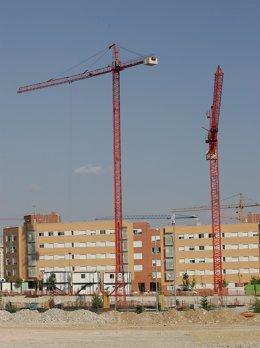 Recurso viviendas en construcción. Obras de edificios.