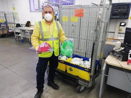 Correos transporta material de impresoras 3D para pantallas de protección de personal sanitario