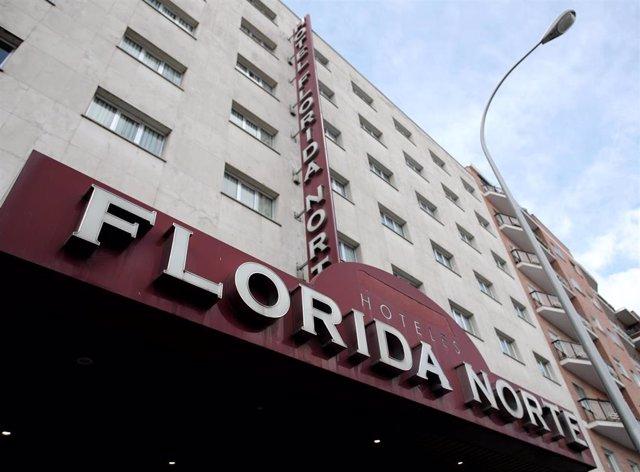 Fachada del Hotel City House Florida Norte, un nuevo hotel medicalizado para la recuperación de pacientes afectados por coronavirus que ya está recibiendo pacientes de los hospitales Rey Juan Carlos, Infanta Elena, General de Villalba, Jiménez Díaz, y los