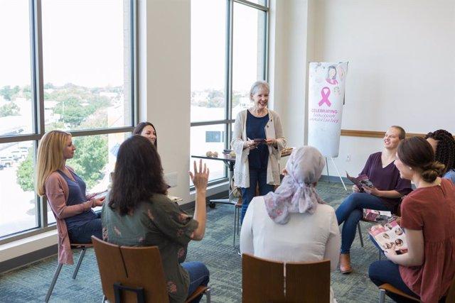 Grupo de apoyo en cáncer de mama.