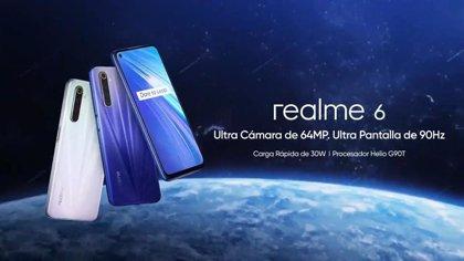 La gama media realme 6 llegará a España el 6 de abril con pantalla de 90Hz y la nueva interfaz realme UI
