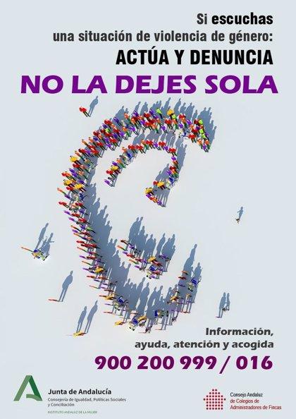 Campaña de IAM y administradores de fincas de Sevilla contra la violencia machista dirigida a comunidades de vecinos