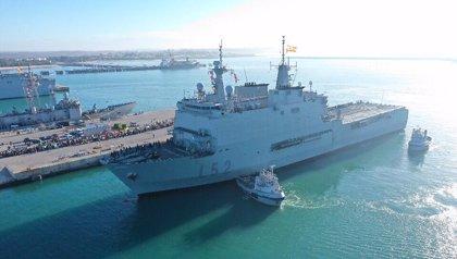 Un buque militar aumentará el número de camas hospitalarias en Melilla