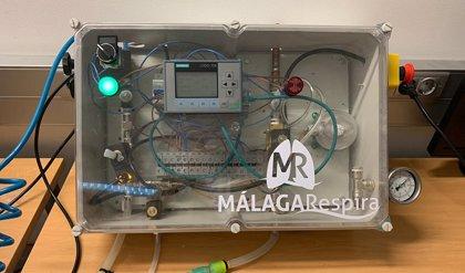 """Médicos de Málaga valoran el trabajo """"satisfactorio"""" tras el ensayo del respirador: """"Es un equipo robusto y fiable"""""""