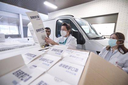 La región china de Gansú dona a Navarra material de protección sanitaria