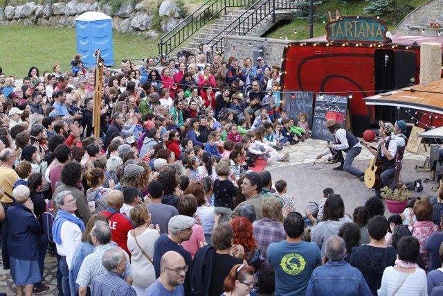 Imagen de un espectáculo en Pirineos Sur