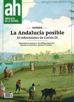 Portada de 'Andalucía en la Historia' dedicada al reformismo de Carlos III