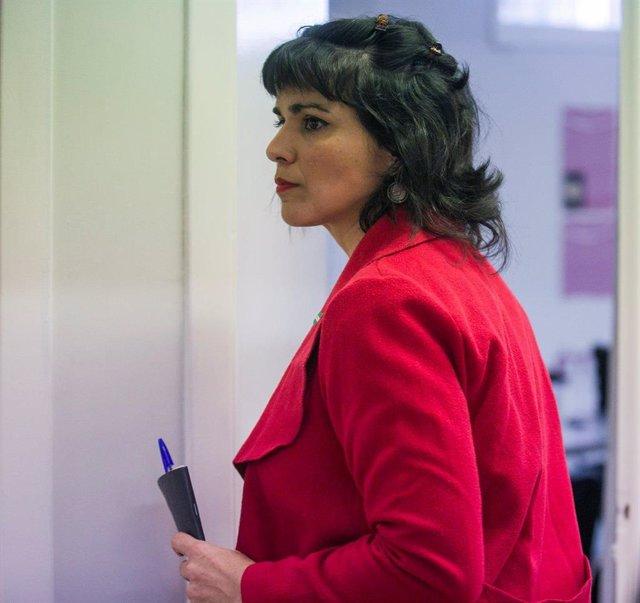 La presidente del grupo parlamentario de Adelante Andalucía, Teresa Rodríguez, en una imagen de archivo.