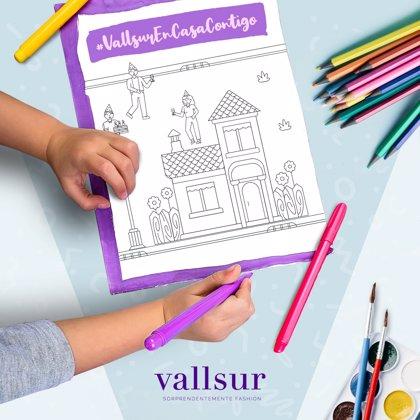 Vallsur pone en marcha una iniciativa para que los niños dibujen un mural gigante de agradecimiento
