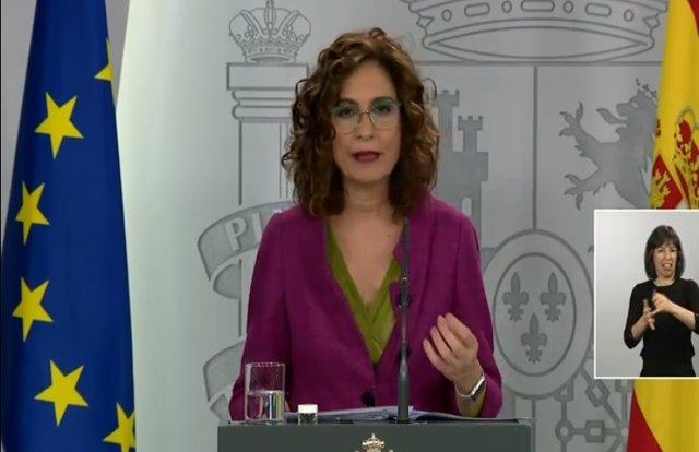 Rued de prensa de la portavoz del Gobierno, María Jesús Montero, tras el Consejo de Ministros