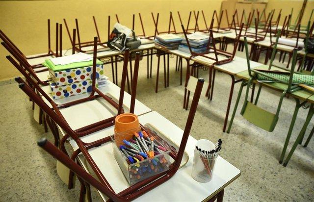 Aula del colegio público Joaquín Costa de Madrid.