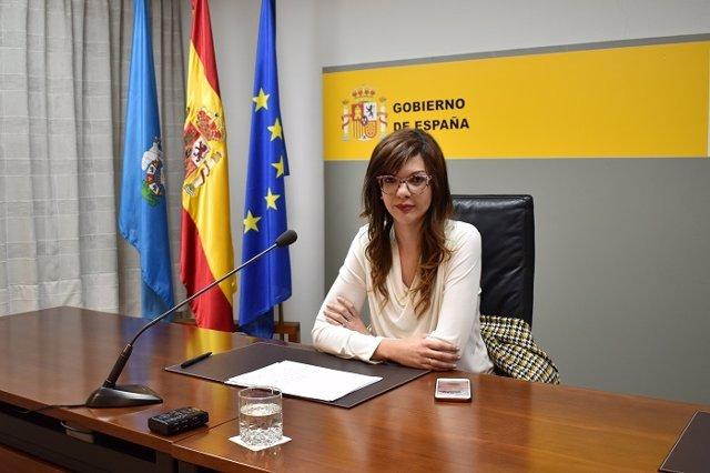 La delegada del Gobierno en Melilla, Sabrina Moh, momentos antes de su rueda de prensa