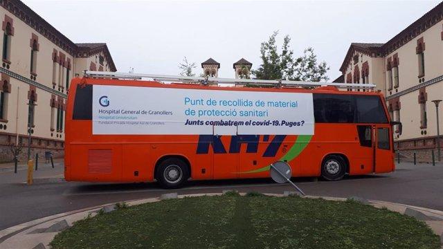 KH-7 ofrece al Hospital General de Granollers (Barcelona) su autobús